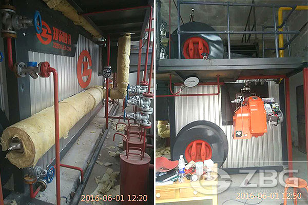 3 Ton Gas Fired Boiler Used in Building Material
