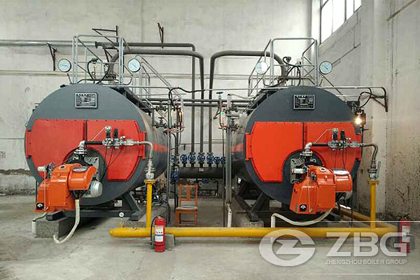 Two Sets of Gas Steam Boiler in Guoyang County Hospital,WNS4-1.25 ...