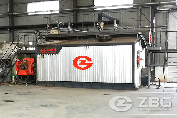 10 Ton SZS Gas Boiler Used in Plate Industry