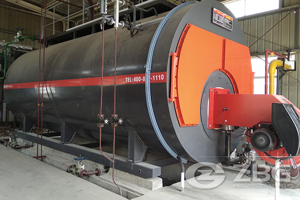 8 Ton Condensing Low Nitrogen Gas Boiler Project