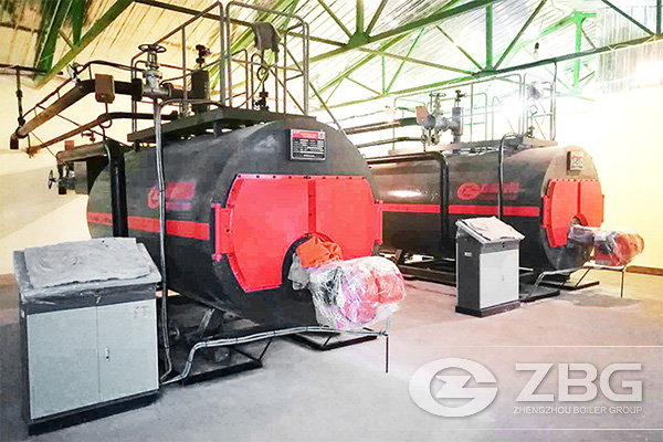 Two Sets of Gas Hot Water Boiler in Russia
