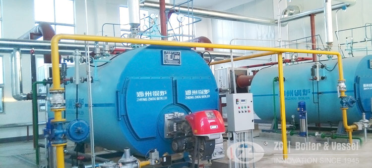 gas oil steam boiler operation site