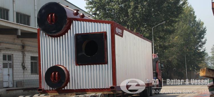 packaged water tube boiler gas oil