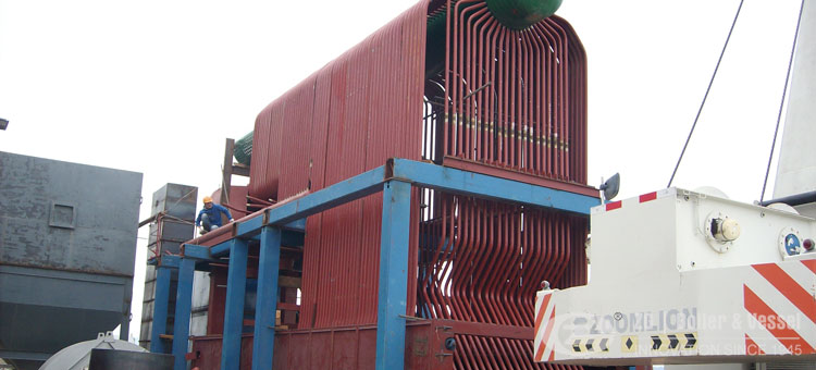 Chain grate coal fired boiler