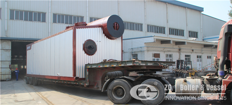d type gas oil water tube boiler