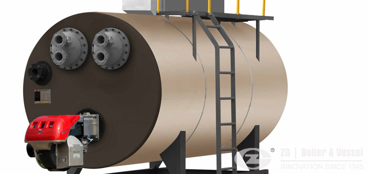 gas fired vacuum hot water boiler