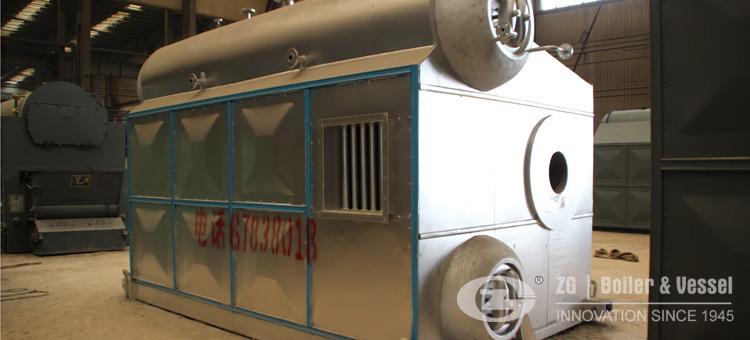 d type gas oil water tube boiler