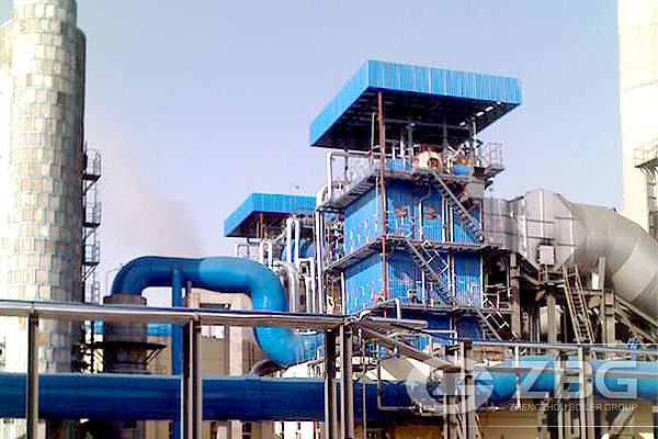 S10t Carbon Rotary Kiln Waste Heat Boiler