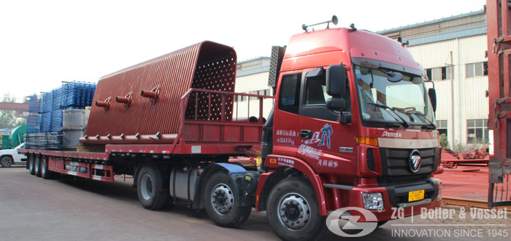 industrial boilers transport to project site