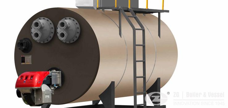 Vacuum hot water boiler