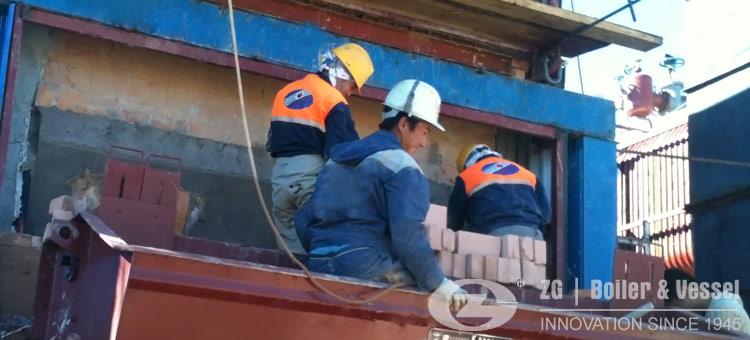 inner Mongolia chain grate boiler installation
