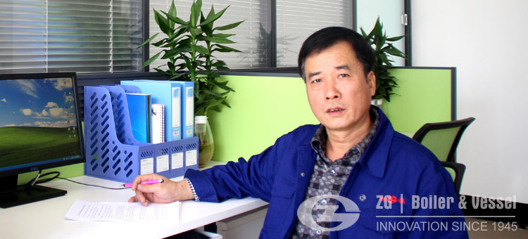 engineer Liu in his office