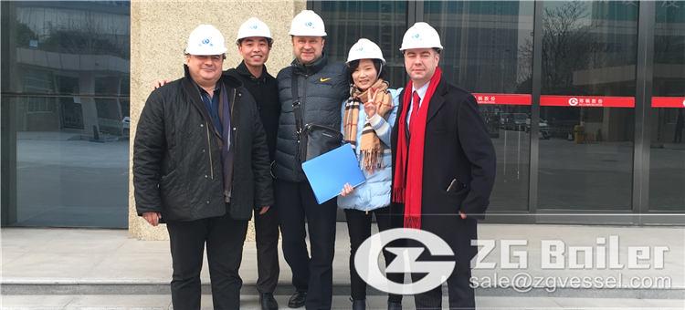 clients came to zhengzhou boiler