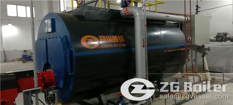 gas and oil fired boiler